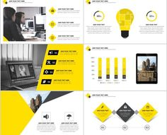 Best yellow annual report PowerPoint template Creative Powerpoint Templates, Powerpoint Presentation Templates, Keynote Template, Ppt Design, Big Data, Desktop Screenshot, Letter, Chart Design, Page Layout