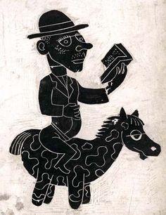 """""""Quijote reader / Quijote lector (ilustración de Jim Flora)"""""""