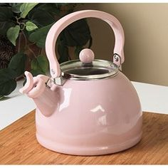 pink kettle | Calypso Basics Pink Whistling Tea Kettle | review | Kaboodle