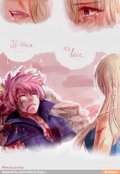 """Nalu """"Really wanted to do some happy art BUT: The Hobbit: The Battle of the Five Armies (finally i watched this) remember about this scene….and we got next NALU angst OTL"""" - Natsu Y Lucy, Fairy Tail Natsu And Lucy, Fairy Tail Love, Fairy Tail Art, Fairy Tail Ships, Fairy Tail Anime, Fairy Tales, Nalu, Gruvia"""