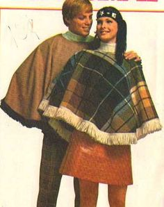 Poncho from 1960s and '70s.