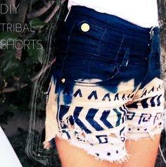 DIY Tribal Print Shorts