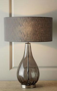 smoky gray glass table lamp http://rstyle.me/n/int5vr9te