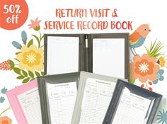 Get half price on our Return Visit and Service Record Book and stay organized  Have you checked them out?  Jobe from Texas, USA said:  I'm new in the ministry and this RV & Record Book are my savours! Is so easy to keep up with my notes that some brothers from my congregation started ordering from your site after they see all the stuff I had ordered from you guys. Keep up the good work and may Jehovah bless you all!  Please visit: http://MinistryIdeaz.com/RV