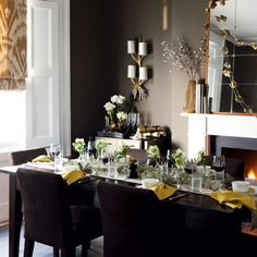 Find This Pin And More On Interior Design Christmas Dining Rooms
