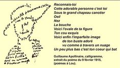 Calligramme Guillaume Apolinaire