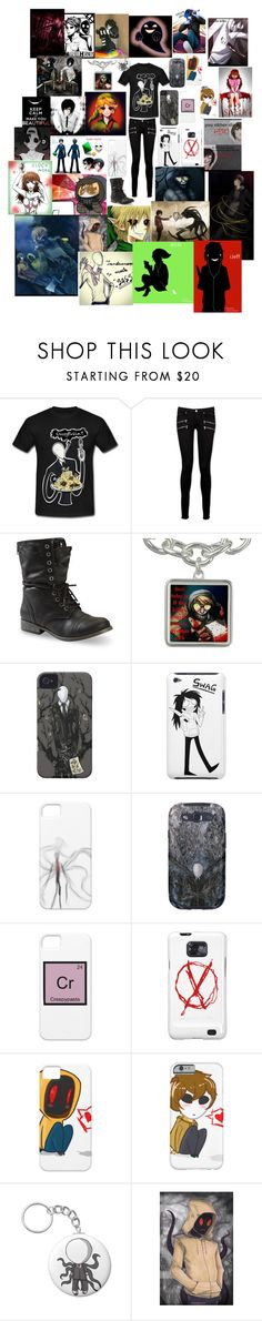 """""""Creepypasta"""" by ender1027 ❤ liked on Polyvore featuring Paige Denim"""