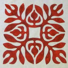 Best 12 The Patriotic Quilter: Sarah's Revival Update Hawaiian Quilt Patterns, Hawaiian Pattern, Hawaiian Quilts, Aplique Quilts, Modern Quilt Blocks, Two Color Quilts, Hawaiian Decor, Red And White Quilts, Christmas Applique
