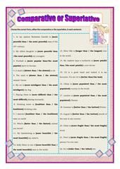 THE SUPERLATIVE - TIPS AND PRACTICE worksheet - Free ESL printable worksheets made by teachers
