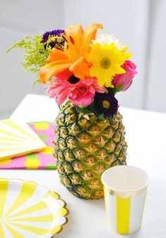 This pineapple vase is a perfect addition to your spring + Easter home decor.