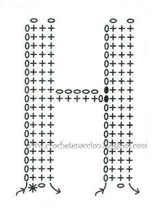 I love crochet: Abecedario tejido a crochet Crochet Motifs, Crochet Diagram, Basic Crochet Stitches, Crochet Chart, Love Crochet, Filet Crochet, Learn To Crochet, Crochet Flowers, Knit Crochet
