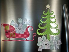 Playfully Contemporary: Magnetic Advent Calendar (A Silhouette Project)