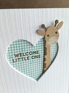I'm in Haven: Picture Book Giraffe Baby Card