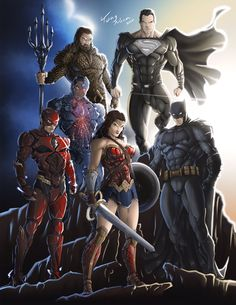 Mundo Superman, Batman And Superman, Comic Book Superheroes, Comic Books Art, Comic Art, Zack Snyder Justice League, Heavy Metal Comic, Dc Trinity, Justice Society Of America