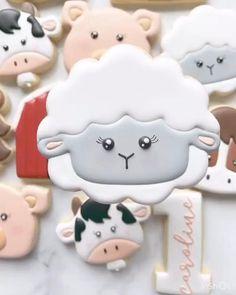 Farm Cookies, Easter Cookies, Birthday Cookies, Cupcake Cookies, Kawaii Cookies, Fondant Cookies, Summer Cookies, Cookie Favors, Flower Cookies