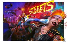 "#StreetsofRage is an official limited edition print drawn by artist Julien Renoult (Leeroy Vanilla) based on the classic #SEGA fighting game Streets of Rage™. Julien Renoult made this print for Cook & Becker and SEGA using the original games' designs, logo's etc. from the SEGA archives as inspiration. This Certified Art Giclee has a paper size of 24 x 36"" or 60 x 90 cm with a small white border so that it fits affordable standard frames available anywhere in the world."