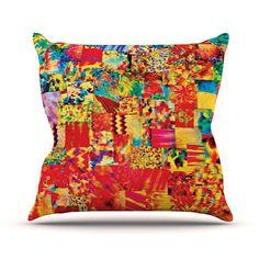 "Ebi Emporium ""Painting the Soul"" Outdoor Throw Pillow"