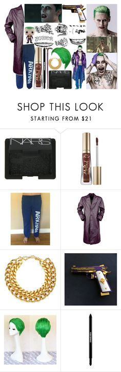 """""""joker: suicidé squad"""" by silent-killer ❤ liked on Polyvore featuring jared, NARS Cosmetics, Too Faced Cosmetics, A.V. Max and Edward Bess"""