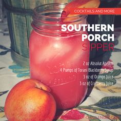 Sit back relax and enjoy this southern cocktail appropriately named the Southern Porch Sipper. This is one cocktail that can be enjoyed year round.