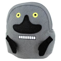 A Money Purse with a zipper in the shape of the scary Groke. Material: Soft terry cloth.