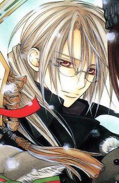 Kaien Cross (黒主灰閻 理事長, Kurosu Kaien Rijicho) is both the Headmaster of Cross Academy, and current head of the Vampire Hunters Association. He is the guardian of Zero Kiryu and adoptive father of Yuki Cross, the heroine of the story.