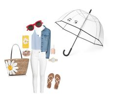 """""""Might rain"""" by isavandoni ❤ liked on Polyvore featuring MANGO, H&M, Billabong, Aéropostale, Kate Spade, Yves Saint Laurent and Essie"""