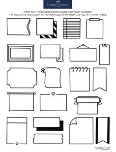 How To Draw Boxes & Frames For Your Bullet Journal – Flipchart gestalten – frame Bullet Journal Boxes, Bullet Journal Headers, Bullet Journal Lettering Ideas, Bullet Journal Notebook, Bullet Journal School, Bullet Journal Ideas Pages, Borders Bullet Journal, Dingbats Font, Bullet Journal Aesthetic