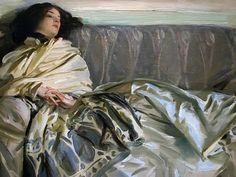 John Singer Sargent non chelance silver gown Christopher Volpe's Art Blog: Sargent: The Sumptuous Sublime