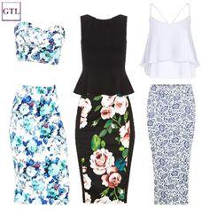 pencil skirt, midi skirt, floral skirt #WIWT