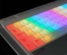 Luxeed Rainbow Computer Keyboard #rainbow #furniture trendhunter.com