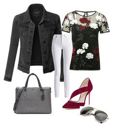 A fashion look from November 2017 featuring cami top, denim jacket and zip jeans. Browse and shop related looks. Barbour International, Tumi, Shoe Bag, Polyvore, Stuff To Buy, Shopping, Collection, Shoes, Design