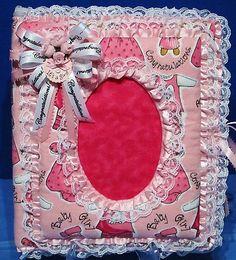 Congratulation's ! It's a Girl baby photo album Craftydevil's Stuff @ eBay