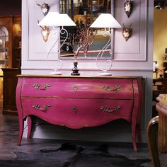 Pink Bailey bombe chest