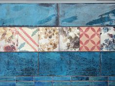 Настенная плитка Montblanc Blue 20x50