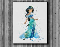 Prinzessin Jasmine DISNEY 2 - Art Print, sofort-Download, Aquarell-Print, Plakat