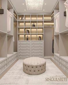 Walk In Closet Design, Bedroom Closet Design, Master Bedroom Closet, Home Room Design, Closet Designs, Home Interior Design, Closet Interior, Dream House Interior, Wardrobe Room
