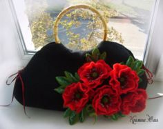 Items similar to Felted wool purse-Felted wool bag-Wet felted bags-Felted handbag-felt bag-top handle bag-wool bag-pink on Etsy Wool Felt, Felted Wool, Felted Bags, Felted Scarf, Floral Shoulder Bags, Felt Purse, Flower Bag, Art Bag, Felt Brooch