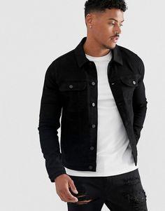 Black Denim Jacket Outfit, Denim Jacket Men, Khaki Shorts, Men's Denim, Blue Denim, Jeans Levi's, Jeans Skinny, Mens Spring Jackets, Winter Jackets