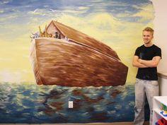 noahs ark painting | Noah's Ark Mural Painting by Tyler Street - Noah's Ark Mural Fine Art ...
