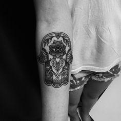 #tattoo #ink #inked #hamsa #bw #dots