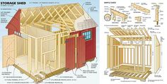 RyanShedPlans - Shed Plans with Woodworking Designs - Shed Blueprints, Garden Outdoor Sheds — RyanShedPlans Backyard Sheds, Outdoor Sheds, Building A Shed, Building Plans, Shed Blueprints, Free Shed Plans, Simple Shed, Wood Shed, Storage Shed Plans