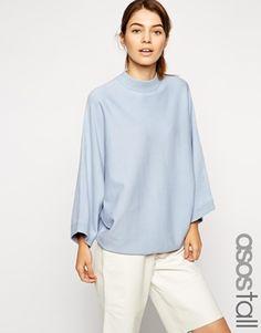 Pull par ASOS Collection Maille épaisse et douce Encolure ras du cou Modèle  structuré Larges manches kimono Coupe classique taillant normalement Lavage  en ... 1ee49dd1629