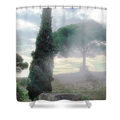#Pompeii--Ancient #Italian #City destroyed by a volcano eruption. Shower Curtain by Judi Saunders