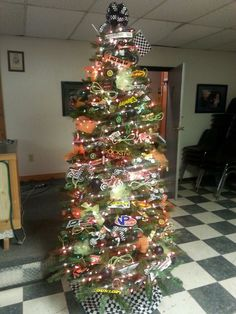 Awesome motocross Christmas tree