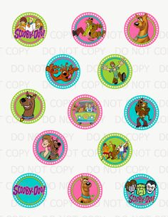 Printable DIY Scooby Doo Theme Cupcake by onelovedesignsllc