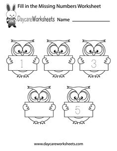 Math Basics: Counting and number recognition worksheets are among the first math worksheets that preschool and kindergarten children will practice with. Missing Number Worksheets, Preschool Number Worksheets, Numbers Kindergarten, Numbers Preschool, Tracing Worksheets, Free Printable Worksheets, Learning Numbers, Free Preschool, Kindergarten Worksheets