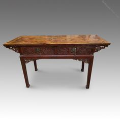 Chinese Red Lacquer Altar Table - Antiques Atlas Asian Room, Antique Chinese Furniture, Antique Items, Altar, Restoration, Cool Designs, Old Things, Carving, Antiques