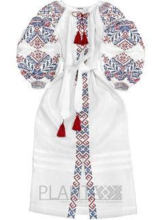 fd24daf5af5 White linen long ethnic dress - natural linen - maxi folk dress ukrainian  vyshyvanka with ancient geometric pattern - kaftan abaya