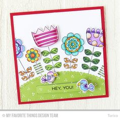 Doodled Blooms Card Kit, Purr-fect Friends Stamp Set and Die-namics, Blueprints 14 Die-namics, Stitched Scallop Basic Edges Die-namics - Torico  #mftstamps