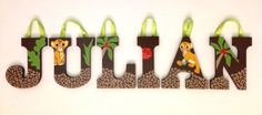 Personalized Wooden Wall Letters for Nursery and Kids Room - Custom Name Inspired By Disney Baby Lion King Simba and Nala Bedding Leopard